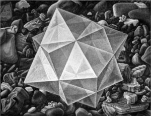 Immagine - Maurits Cornelis Escher Cristallo, 1947 Mezzatinta, 13,30×17,20 cm. Collezione Federico Giudiceandrea.  All M.C. Escher works © 2015 The M.C. Escher Company. All rights reserved. www.mcescher.com